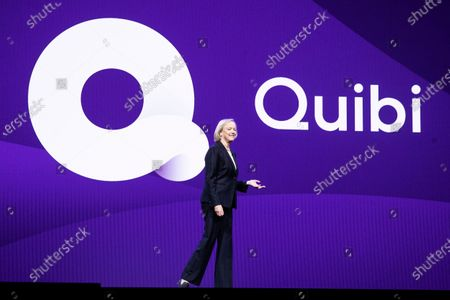 Quibi CEO Meg Whitman delivers a speech during the Quibi (short for Quick Bites) press conference at the 2020 International Consumer Electronics Show in Las Vegas, Nevada, USA, 08 January 2020. Quibi is a new mobile platform to deliver short video contents from news to tv-shows especially made for the new platform. The annual CES which takes place from 7-10 January is a place where industry manufacturers, advertisers and tech-minded consumers converge to get a taste of new innovations coming to the market each year.