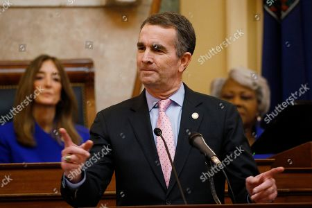 Ralph Northam, Eileen Filler-Corn, Louise Lucas. Virginia Gov. Ralph Northam, center, gestures as he delivers his State of the Commonwealth address as House Speaker Eileen Filler-Corn, left, D-Fairfax, and Senate President Pro Tem Louise Lucas, D-Portsmouth, listen before a joint session of the Assembly at the state Capitol in Richmond, Va