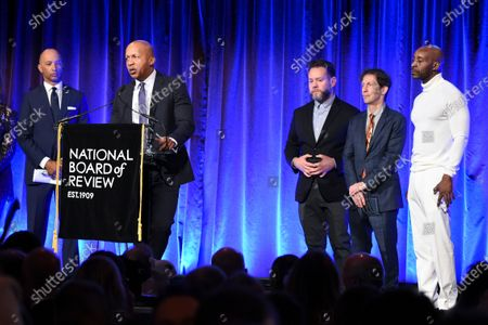 Bryan Stevenson, Asher Goldstein, Tim Blake Nelson and Rob Morgan