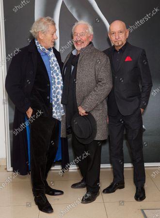 Sir Ian McKellen, Simon Callow and Sir Ben Kingsley