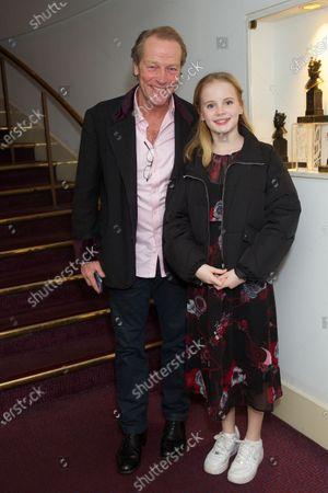 Iain Glen and Mary Glen (daughter)