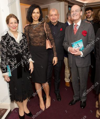 Lord and Lady Lingfield with Sir Ben Kingsley and his wife Daniela Lavender