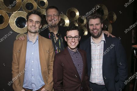 Henry Shields (Author/Sophisticato), Penn Jillette (Author), Jonathan Sayer (Author/Mickey) and Henry Lewis (Author/Mind Mangler)