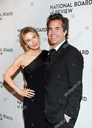 Renee Zellweger, Rupert Goold. Actor Renee Zellweger, left, and director Rupert Goold attend the National Board of Review Awards gala at Cipriani 42nd Street, in New York