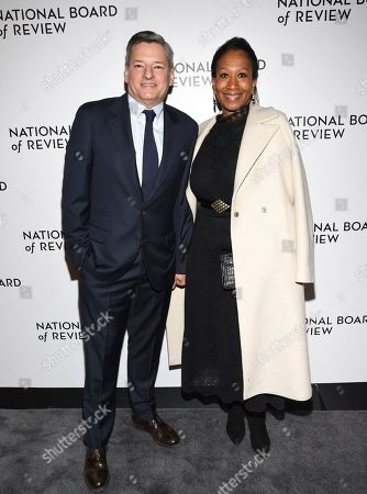 Ted Sarandos, Nicole Avant. Netflix CCO Ted Sarandos, left, and wife producer Nicole Avant attend the National Board of Review Awards gala at Cipriani 42nd Street, in New York