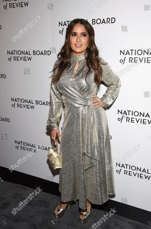 Salma Hayek Pinault attends the National Board of Review Awards gala at Cipriani 42nd Street, in New York