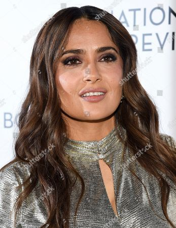 Stock Photo of Salma Hayek Pinault attends the National Board of Review Awards gala at Cipriani 42nd Street, in New York