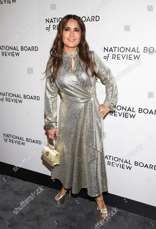 Stock Picture of Salma Hayek Pinault attends the National Board of Review Awards gala at Cipriani 42nd Street, in New York