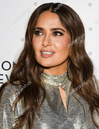 Stock Image of Salma Hayek Pinault attends the National Board of Review Awards gala at Cipriani 42nd Street, in New York