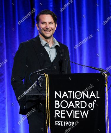 Bradley Cooper presents an award at the National Board of Review Awards gala at Cipriani 42nd Street, in New York