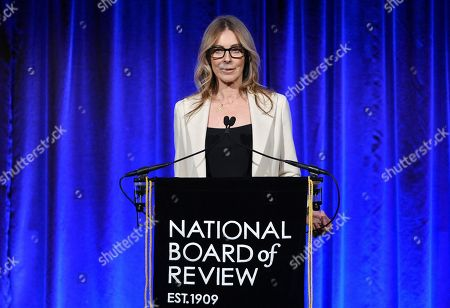 Stock Picture of Kathryn Bigelow presents an award at the National Board of Review Awards gala at Cipriani 42nd Street, in New York