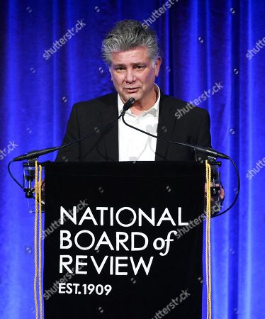 """Steven Zaillian accepts the best adapted screenplay award for """"The Irishman"""" at the National Board of Review Awards gala at Cipriani 42nd Street, in New York"""