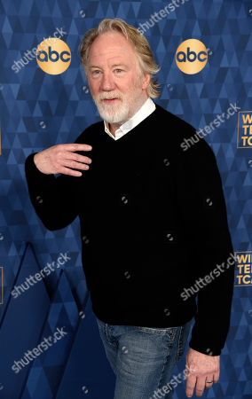 """Timothy Busfield, a cast member in the ABC television series """"For Life,"""" poses at the 2020 ABC Television Critics Association Winter Press Tour, in Pasadena, Calif"""