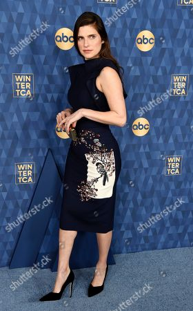 """Lake Bell, a co-creator and cast member in the ABC television series """"Bless This Mess,"""" poses at the 2020 ABC Television Critics Association Winter Press Tour, in Pasadena, Calif"""