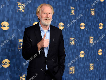 "Ed Begley Jr., a cast member in the ABC television series ""Bless This Mess,"" poses at the 2020 ABC Television Critics Association Winter Press Tour, in Pasadena, Calif"