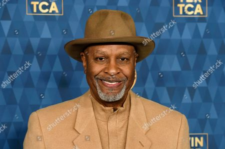"""James Pickens Jr., a cast member in the ABC television series """"Grey's Anatomy,"""" poses at the 2020 ABC Television Critics Association Winter Press Tour, in Pasadena, Calif"""