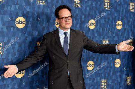 """Diedrich Bader, a cast member in the ABC television series """"American Housewife,"""" poses at the 2020 ABC Television Critics Association Winter Press Tour, in Pasadena, Calif"""