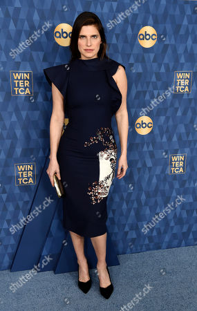 """Lake Bell, a cast member and co-creator of the ABC television series """"Bless This Mess,"""" poses at the 2020 ABC Television Critics Association Winter Press Tour, in Pasadena, Calif"""