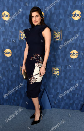 """Stock Image of Lake Bell, a cast member and co-creator of the ABC television series """"Bless This Mess,"""" poses at the 2020 ABC Television Critics Association Winter Press Tour, in Pasadena, Calif"""