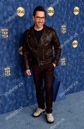 "Dan Bucatinsky, a cast member in the ABC television series ""The Baker and the Beauty,"" poses at the 2020 ABC Television Critics Association Winter Press Tour, in Pasadena, Calif"