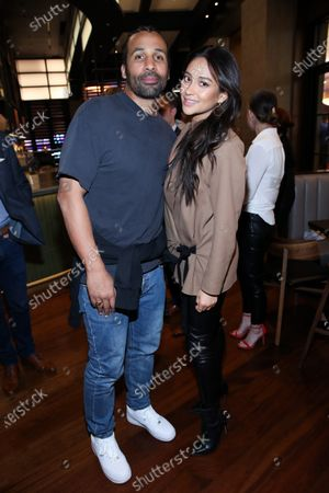 Stock Image of Matte Babel and Shay Mitchell attend Hulu and David Chang 's dinner to celebrate creativity in streaming TV at Majordomo Meat & Fish in Las Vegas