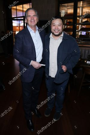 Stock Photo of Randy Freer and David Chang attend Hulu and David Chang's dinner to celebrate creativity in streaming TV at Majordomo Meat & Fish in Las Vegas