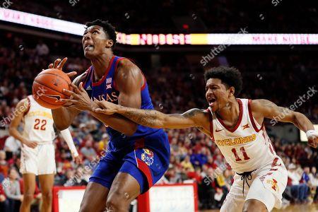 Editorial photo of Kansas Iowa St Basketball, Ames, USA - 08 Jan 2020