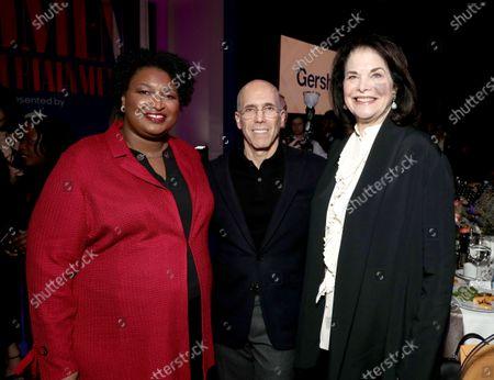 Stacey Abrams, Jeffrey Katzenberg and Sherry Lansing