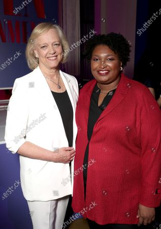 Meg Whitman and Stacey Abrams