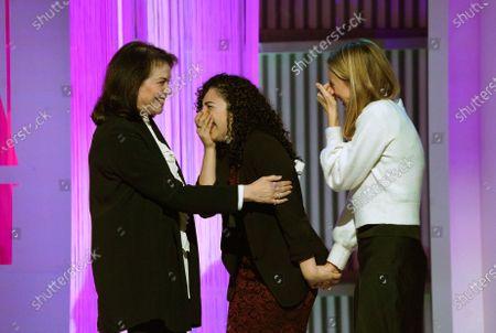 Sherry Lansing, Breanna Maldonado and Hannah Linkenhoker