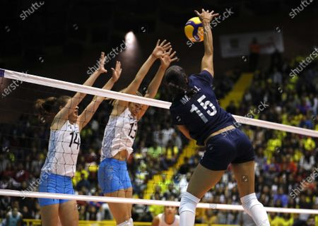 Editorial picture of Volleyball Pre-Olympic Championship in Bogota, Colombia - 08 Jan 2020