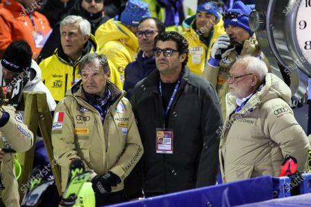 Alberto Tomba with Flavio Roda, president, FISI