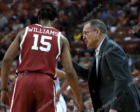 Head coach Lon Kruger of the Oklahoma Sooners in action vs the Texas Longhorns at the Frank Erwin Center in Austin Texas. Oklahoma defeats Texas 72-62