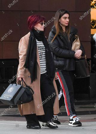 Stock Image of Sharon Osbourne and Aimee Osbourne