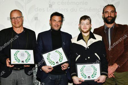 Eric Lagesse, Francois Ozon, Anthony Bajon and Edouard Bergeron