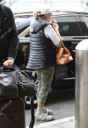 Editorial photo of Roseanne Barr at LAX International Airport, Los Angeles, USA - 08 Jan 2020