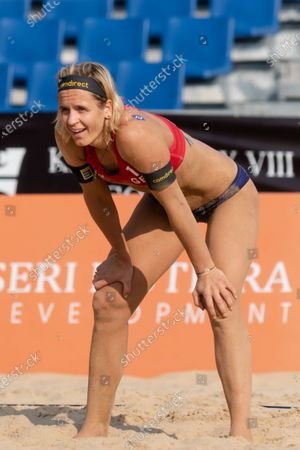 Laura Ludwig of Germany during Round 2 match against Slovakia on Day 2