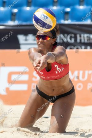 Alexandra Jupiter of France in action during Round 2 match against Thailand on Day 2 of