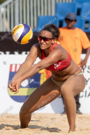 Alexandra Jupiter of France plays the ball during Round 2 match against Germany on Day 2 of