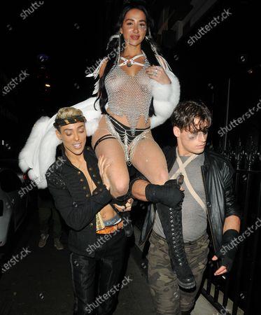 Editorial image of Natasha Grano's birthday party, The Mandrake Hotel, Newman Street, London, UK - 08 Jan 2020