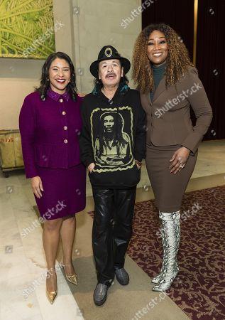 Stock Picture of London Breed, Carlos Santana, Yolanda Adams