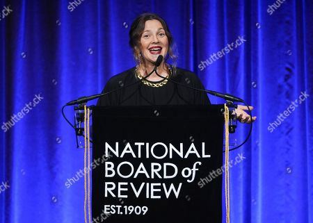 Drew Barrymore attends the National Board of Review Awards gala at Cipriani 42nd Street, in New York