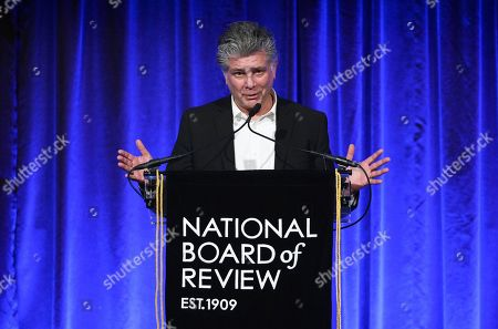 """Steven Zaillian accepts the best adapted screenplay award for """"The Irishman,"""" at the National Board of Review Awards gala at Cipriani 42nd Street, in New York"""