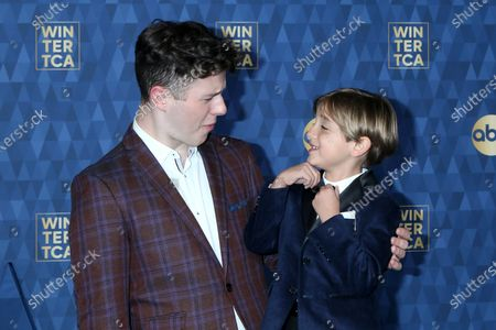 Stock Photo of Nolan Gould and Jeremy Maguire