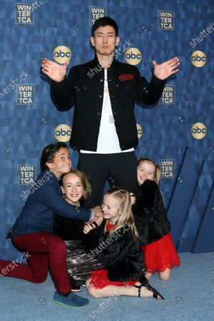 Stock Image of Tyler Wladis, Marlow Barkley, Jake Choi, Ella Allan, and Mia Allan
