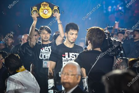 Ryota Murata of Japan enters the ring before the WBA Middleweight title bout against Steven Butler of Canada