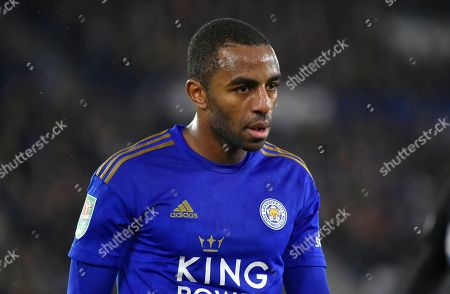 Leicester's Ricardo Pereira during the English League Cup semi final first leg soccer match between Leicester City and Aston Villa at the King Power Stadium in Leicester, England