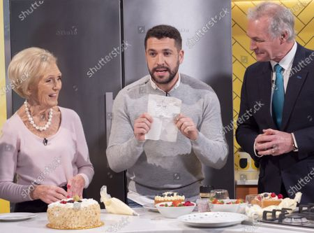 Mary Berry and Shayne Ward with Dr Hilary Jones