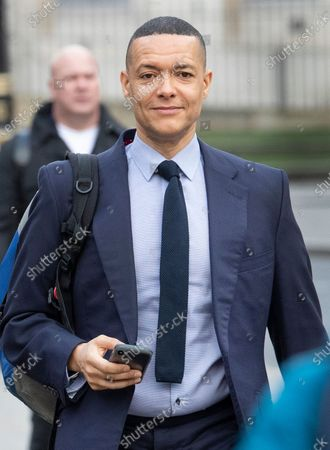Labour Party leadership challenger Clive Lewis arrives at Parliament for the first Prime Minister's Questions after the Christmas break.