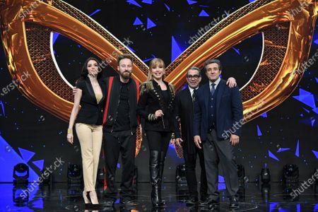 Milly Carlucci and jury Ilenia Pastorelli, Francesco Facchinetti, Guillermo Mariotto, Flavio Insinna